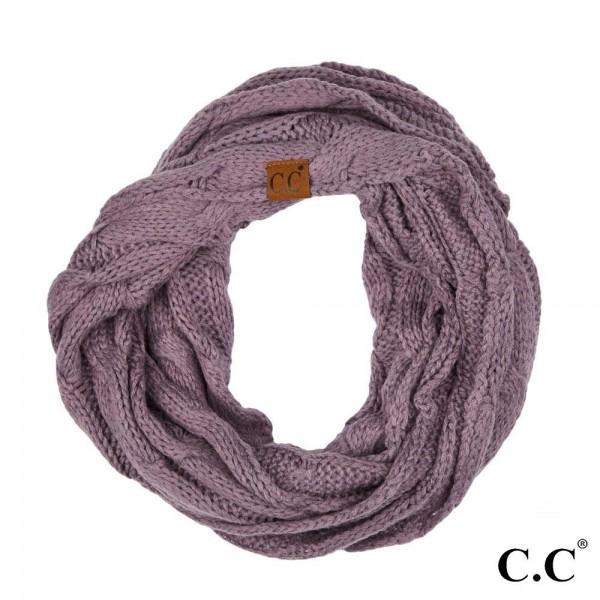"C.C SF-800 Cable knit infinity scarf  - 100% Acrylic - W:13"" X L:60"""