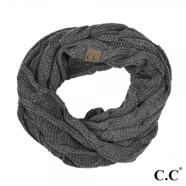 Wholesale c C SF Cable knit infinity scarf Acrylic W L