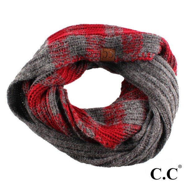 C.C SF-55  Buffalo check pattern scarf  - 100% Acrylic - One size fits most