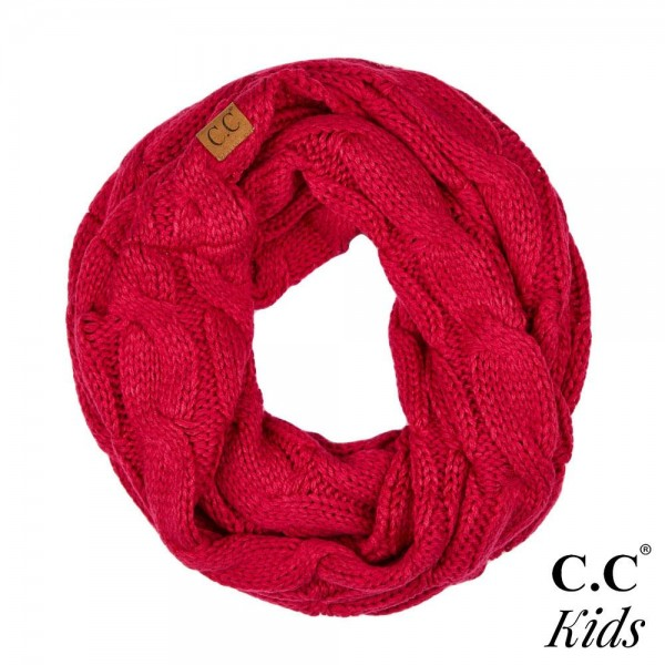Wholesale c C SF KIDS Kids Cable Knit Infinity Scarf Acrylic W L