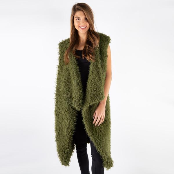 Wholesale very soft warm faux fur sleeveless vest Acrylic