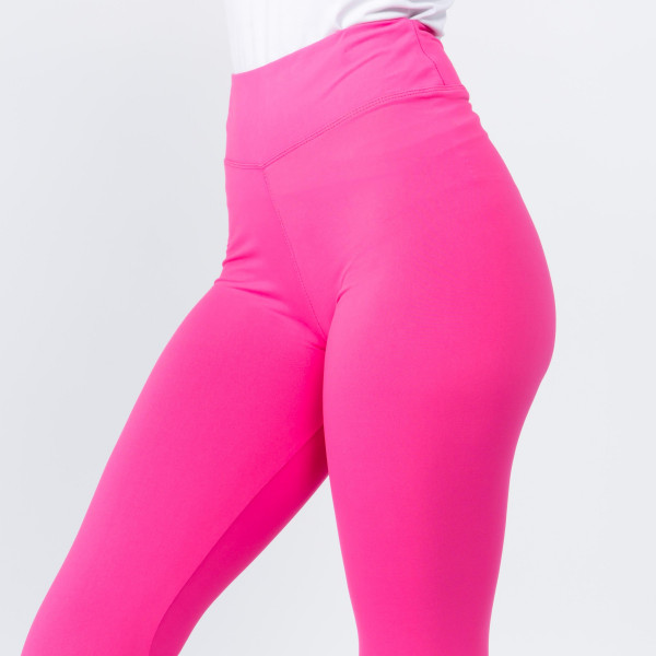 """Women's New Mix Brand Solid Peach Skin Leggings.  - 3"""" Elastic Waistband - Full-Length - Inseam approximately 28""""  - One size fits most 0-14 - 92% Polyester / 8% Spandex"""