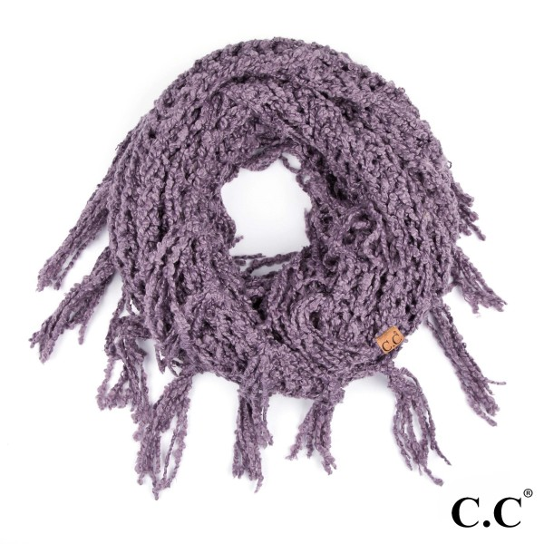 "C.C INF-100  Chenille infinity scarf with tassels  - 100% Polyester - One size fits most - W:12"" X L:60"""
