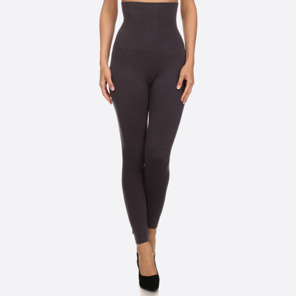 Wholesale women s Waisted Cotton Compression Leggings Long skinny leg Does not b