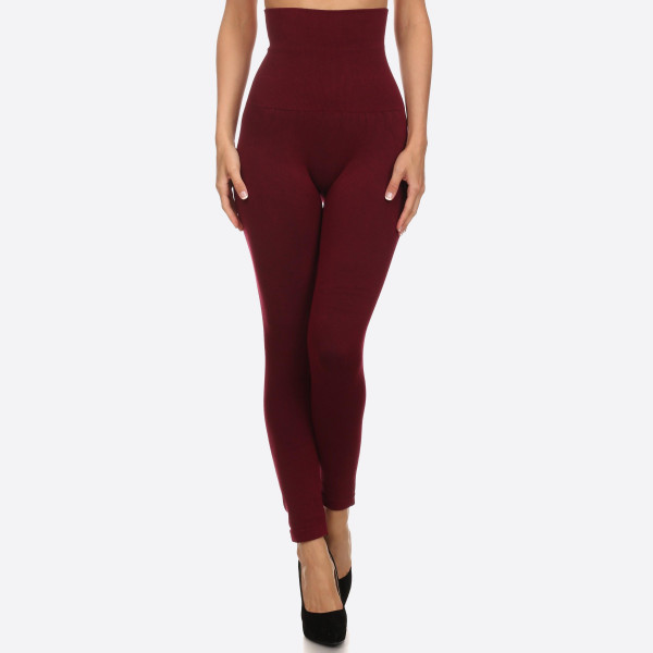 Women S High Waisted Cotton Compression Leggings Long Skinny Leg Design Does Not Ball Or Pill Comfortable And Easy Pull On Style Solid Color Very Stretchy Tummy Control