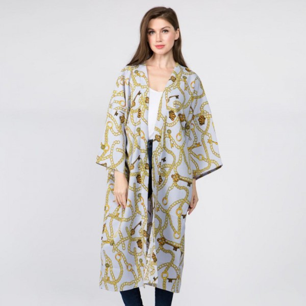 """Women's Lightweight Designer Inspired Print Kimono.  - One size most 0-14 - Approximately 40"""" L - 100% Polyester"""