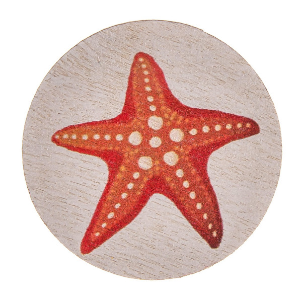 "Accessorize your phone grip with this wood decorative peel and stick charm featuring a starfish detail. Approximately 1.5"" in diameter. Fashion charms can also be used for the following:  - Laptops - Refrigerator Magnets - On DIY Home Projects - Car Dashboard - And anywhere you can Imagine"