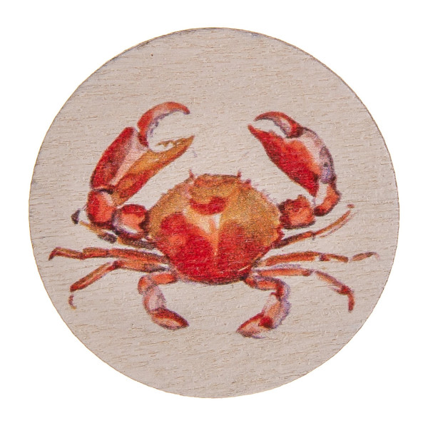"Accessorize your phone grip with this wood decorative peel and stick charm featuring a crab detail. Approximately 1.5"" in diameter. Fashion charms can also be used for the following:  - Laptops - Refrigerator Magnets - On DIY Home Projects - Car Dashboard - And anywhere you can Imagine"