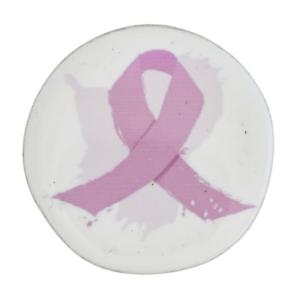 "Accessorize your phone grip with this metal enamel coated Breast Cancer Awareness peel and stick charm. Approximately 1.5"" in diameter. Fashion charms can also be used for the following:  - Laptops - Refrigerator Magnets - On DIY Home Projects - Car Dashboard - And anywhere you can Imagine"