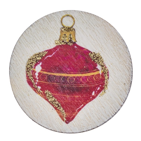 "Accessorize your phone grip with this wooden Christmas ornament decorative peel and stick charm. Approximately 1.5"" in diameter. Fashion charms can also be used for the following:  - Laptops - Refrigerator Magnets - On DIY Home Projects - Car Dashboard - And anywhere you can Imagine"