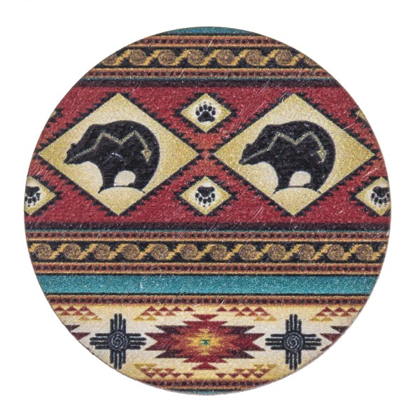 "Accessorize your phone grip with this wooden tribal bear print peel and stick charm. Approximately 1.5"" in diameter. Fashion charms can also be used for the following:  - Laptops - Refrigerator Magnets - On DIY Home Projects - Car Dashboard - And anywhere you can Imagine"