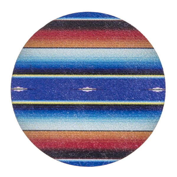 "Accessorize your phone grip with this wooden serape tribal print peel and stick charm. Approximately 1.5"" in diameter. Fashion charms can also be used for the following:  - Laptops - Refrigerator Magnets - On DIY Home Projects - Car Dashboard - And anywhere you can Imagine"