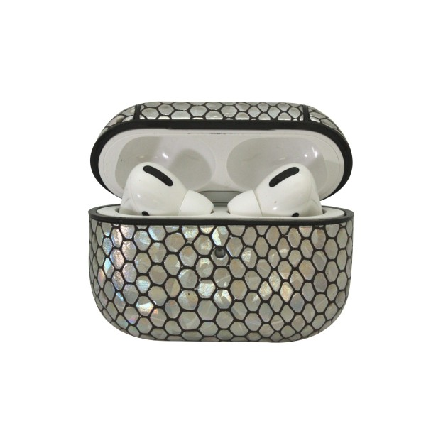 Hard Plastic Iridescent Animal Print Protective Skin for Headphone Case.  - Compatible with AirPods Pro Only - New Upgrade Skin Material - Full 360 Protection  - Detachable Clip  Headphones not Included.