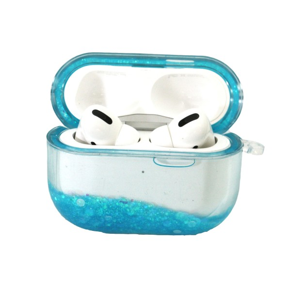 Hard Clear Plastic Glitter Skin AirPods Pro Case Protector.  - Fits AirPods Pro Only - New Upgrade Skin Material - Full 360 Protection - Detachable Chain   AirPods Pro Not Included.