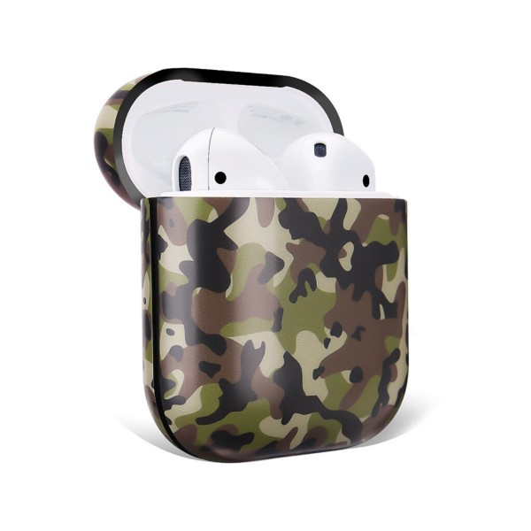 Printed Hard Plastic Protective Skin for AirPod Case.  - Compatible with Regular AirPods Only - Silicone Seal Strip  - Full 360 Protection - Carabiner Included   Headphones not Included.