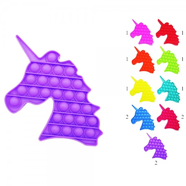 "Unicorn Shaped Push Pop Fidget Toy. (12 Pack)   - Ages 3+  - As Seen On TikTok  - ""It's Like Bubble Wrap That Never Ends!"""