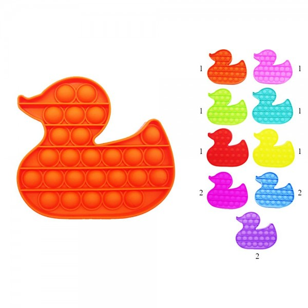 "Duck Shaped Push Pop Fidget Toy. (12 Pack)   - Ages 3+  - As Seen On TikTok  - ""It's Like Bubble Wrap That Never Ends!"""
