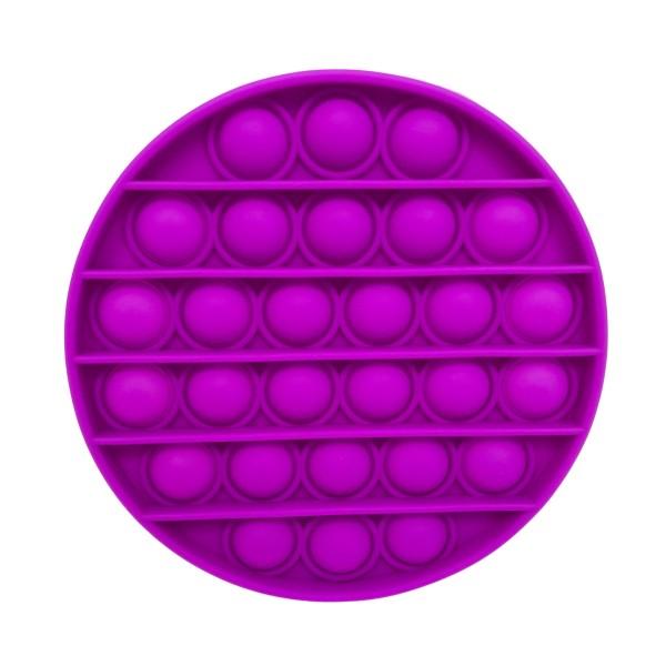 "Round Purple Push Pop Fidget Toy.    - Ages 3+ - As Seen On TikTok - ""It's Like Bubble Wrap That Never Ends!"""