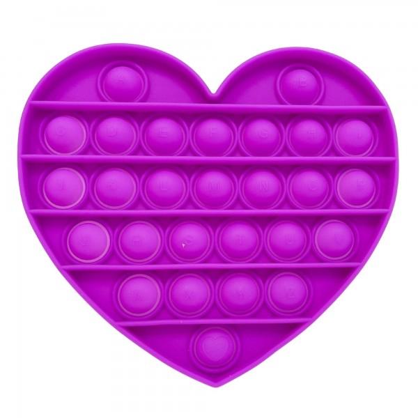 "Heart Push Pop Fidget Toy.  - Ages 3+ - As Seen On TikTok - ""It's Like Bubble Wrap That Never Ends!"""