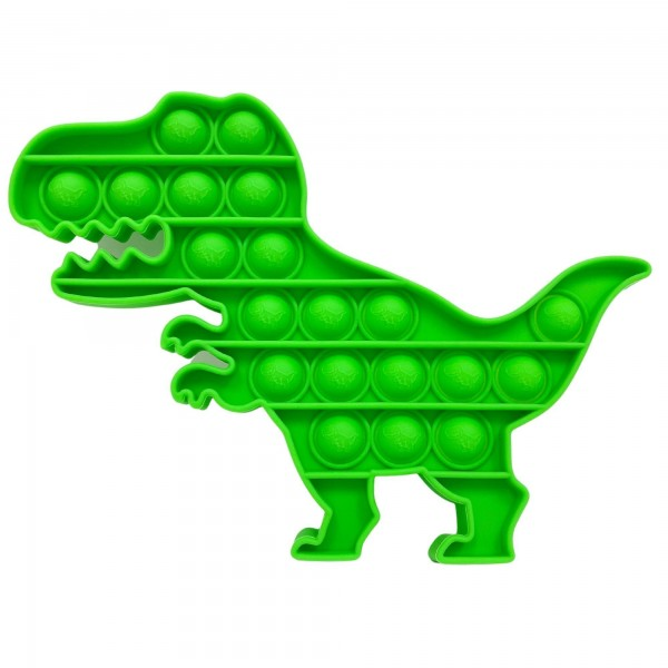 "Dinosaur Shaped Push Pop Fidget Toy.  - Ages 3+ - As Seen On TikTok - ""It's Like Bubble Wrap That Never Ends!"""