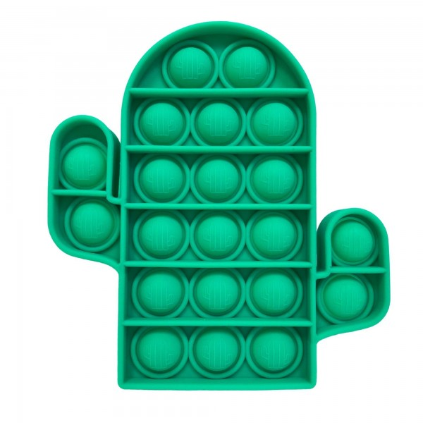"Cactus Shaped Push Pop Fidget Toy.  - Ages 3+ - As Seen On TikTok - ""It's Like Bubble Wrap That Never Ends!"""