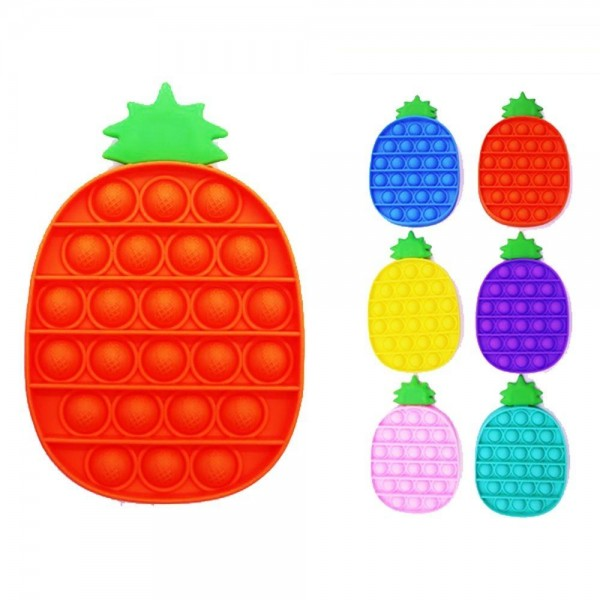 """Pineapple Push Pop Fidget Toy. (Assorted Colors 12 Pack)  - Ages 3+ - As Seen On TikTok - """"It's Like Bubble Wrap That Never Ends!"""""""