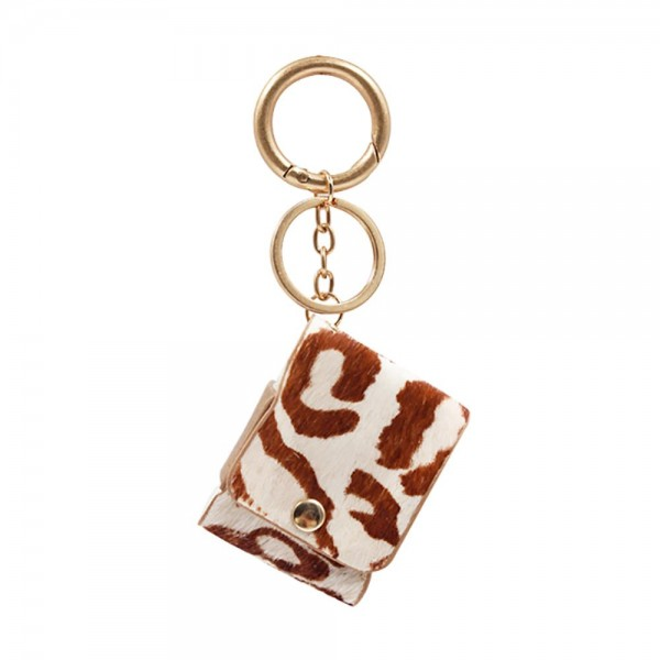 Animal Print Protective Case for Regular AirPods Only.  - Fits Regular AirPods Only - Full 360 Protection - Detachable Keyring  AirPods Not Included.