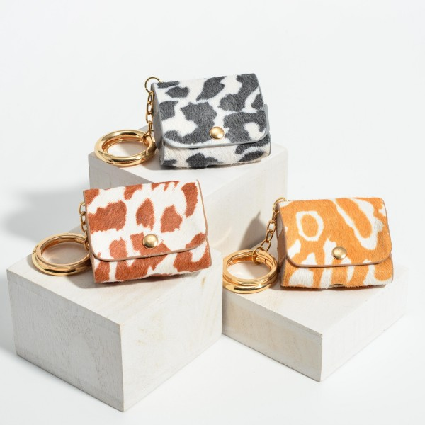Animal Print Protective Case for AirPods Pro Only.  - Fits AirPods Pro Only - Full 360 Protection - Detachable Keyring  AirPods Not Included.