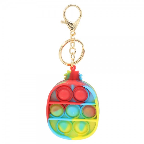 "Multicolor Fidget Pop Toy Key Chain.  - Holds Keys - Ages 3+ - As Seen On TikTok - ""It's Like Bubble Wrap That Never Ends!"""