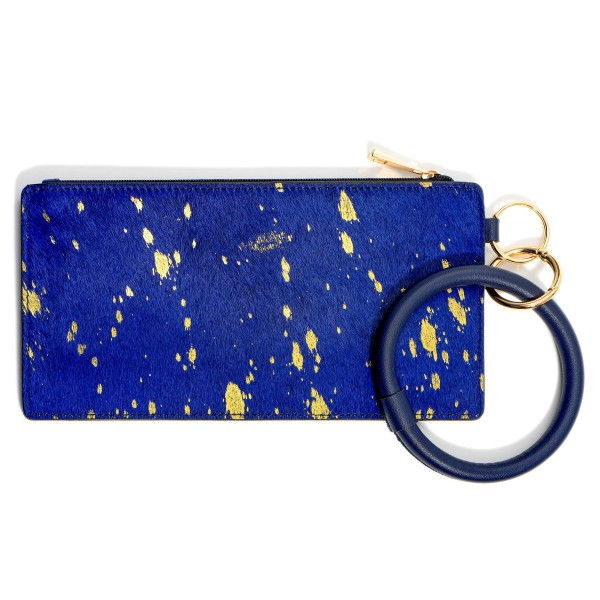 """Faux Leather Animal Print Key Ring Wallet Wristlet.  - Zipper Closure - Detachable 3"""" Key Ring - Holds: Bills / Coins / Cards / ID - Approximately 8"""" x 4"""""""