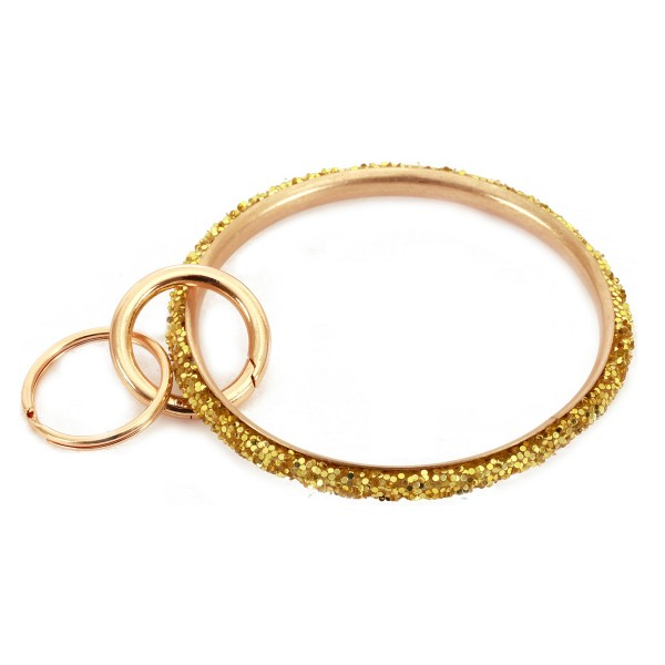 "Glittery Key Ring.  - Hold Keys while wearing on wrist or bag - Approximately 3"" in diameter"