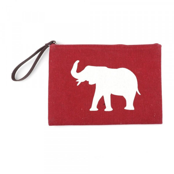 Wholesale alabama clutch wristlet lined inside pocket zipper closure Composition