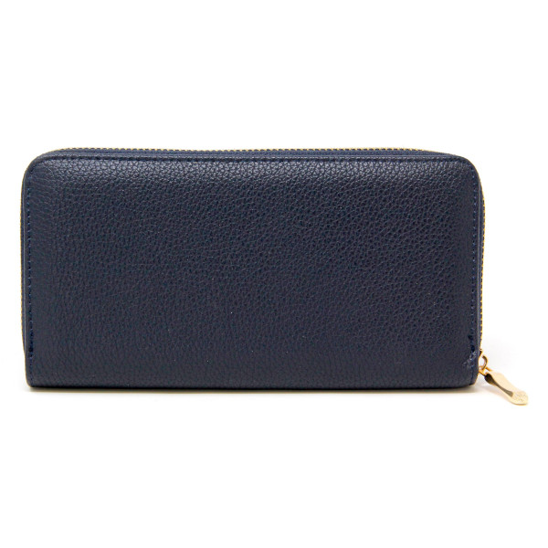 """Solid Faux Leather Long Wallet.  - Zip around Closure - Full Bill, Card and Coin Compartments - Approximately 7.5"""" W x 4"""" T - 100% PU"""