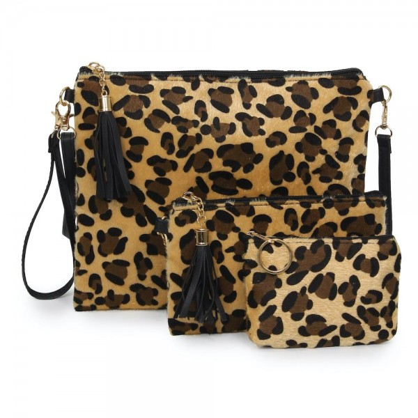 "Leopard Print Zipper Coin Pouch.  - Zipper Closure - Open Lined Inside  - Fits Card & Coins - Approximately 5"" x  4"""
