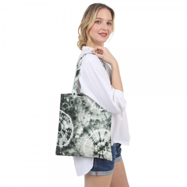 "Tie-Dye Tote Bag.   - Inside Pocket - Approximately 14"" x 13"""