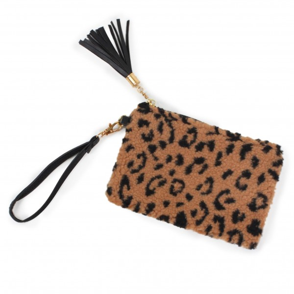 Wholesale wristlet faux leather tassel zipper pull Removable faux leather wristl