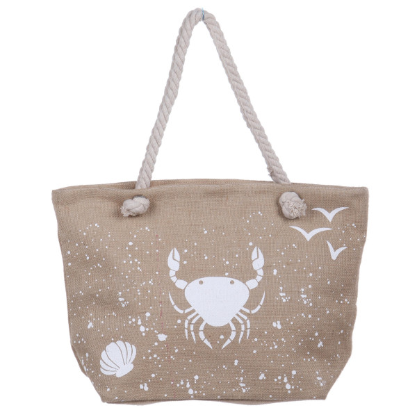 Wholesale burlap tote bag twisted cord strap