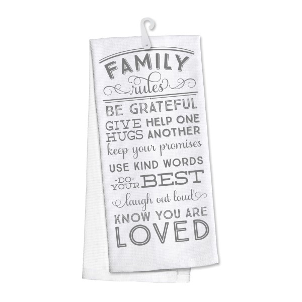 Wholesale family Rules kitchen dish towel made cotton s super absorbent machine