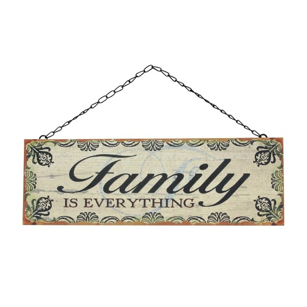 Wholesale rustic metal wall sign chain link hanger reads Family everything Measu