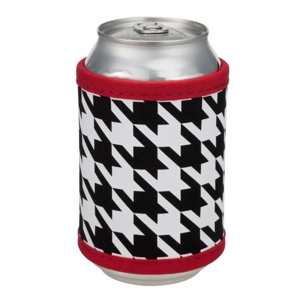 Wholesale neoprene velcro houndstooth drink hugger fits bottle cans flasks monog