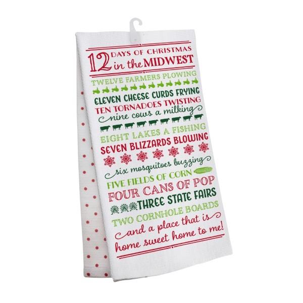 Wholesale days Christmas Midwest tea towel open cotton All artwork lyrics copyr