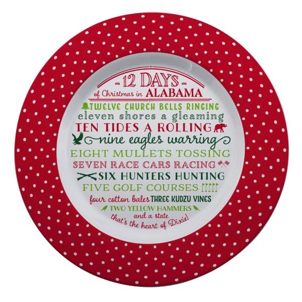 Wholesale melamine Days Christmas Alabama platter dishwasher microwave safe diam