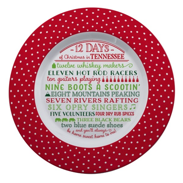 Wholesale melamine Days Christmas Tennessee platter dishwasher microwave safe di