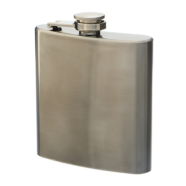 Wholesale silver stainless steel oz flask Dimensions Can be monogrammed covered