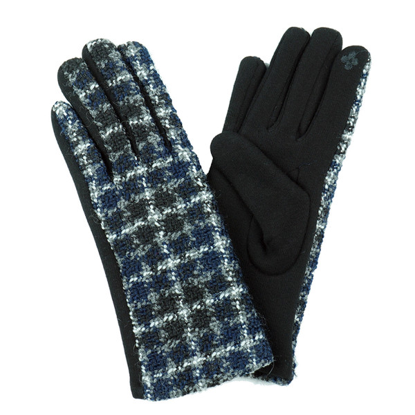 Multicolor Plaid Smart Touch Gloves.  - Touchscreen Compatible - One size fits most - 100% Acrylic