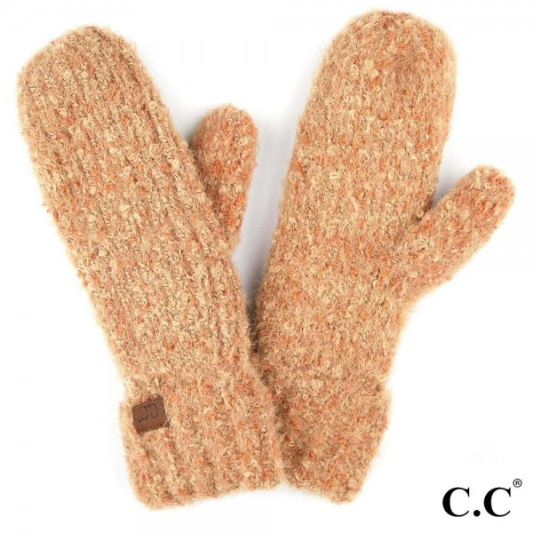 Wholesale c C MT Boucle Yarn Knit Mitten One fits most Polyester Nylon