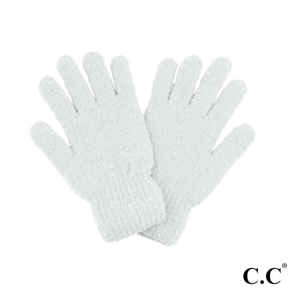 C.C G-7006 Boucle smart touch glove with lining inside  - 100% Polyester Boucle  - One size fits most - Matches C.C HAT-7006 and SF-7006