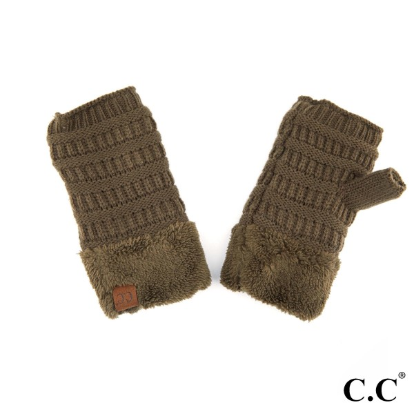 Wholesale c C FLG Shearling fingerless glove Acrylic One fits most