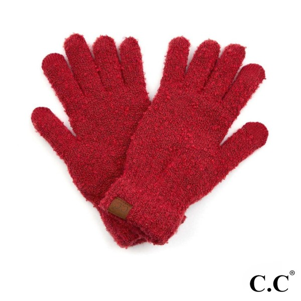 Wholesale c C G Boucle Smart Touch Gloves Lined Inside One fits most Polyester B