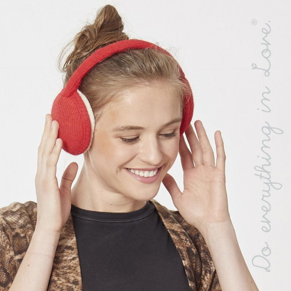 Do everything in Love brand faux fur lined knitted earmuffs.  - One size fits most - 100% Polyester